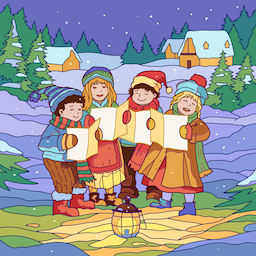 Carolers Small PNG